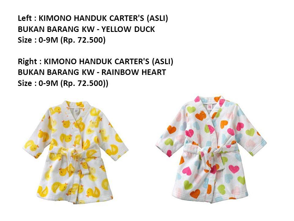 Left : KIMONO HANDUK CARTER S (ASLI) BUKAN BARANG KW - YELLOW DUCK Size : 0-9M (Rp.