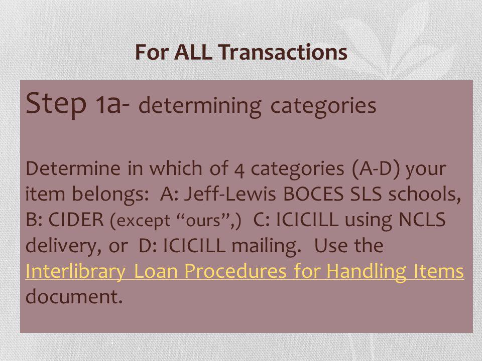 Interlibrary Loan Procedures for Handling Items
