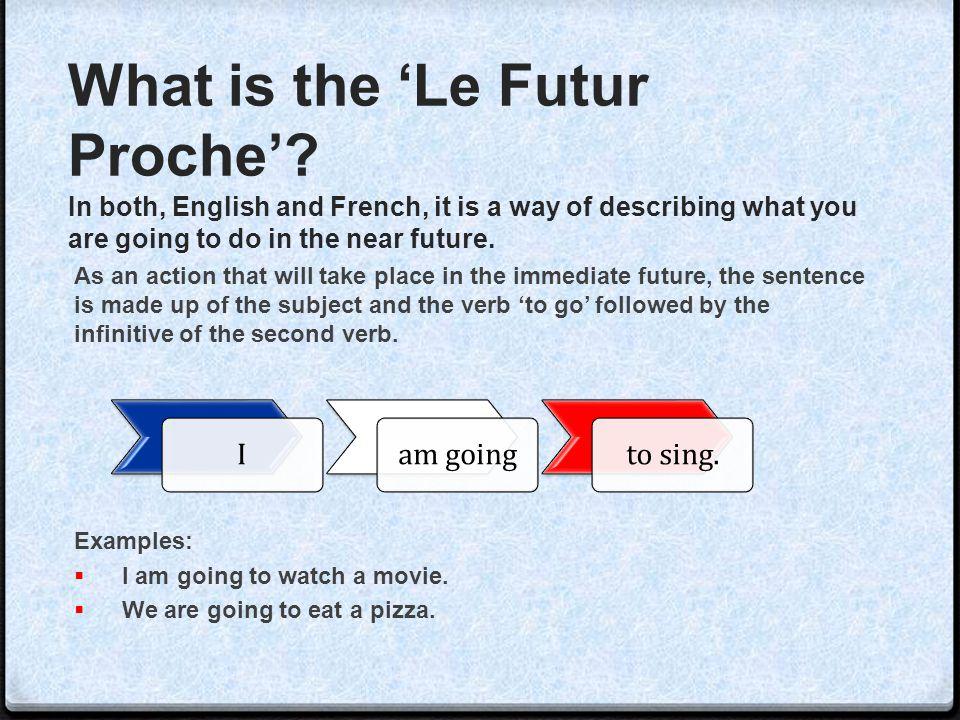 Iam goingto sing.What is the 'Le Futur Proche'.