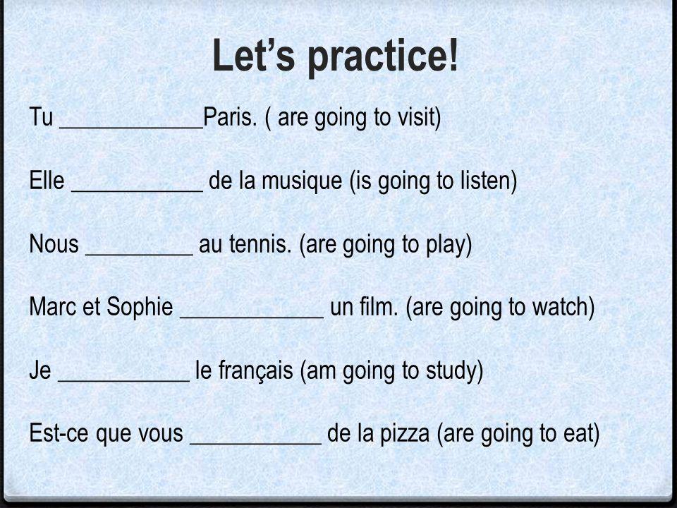 Les Activités – Things to do! boire un café jouer au football lire faire des magasins jouer au volley manger la pizza