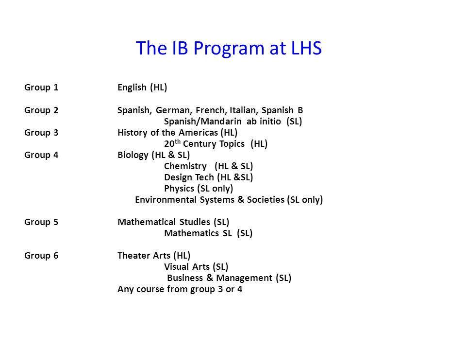 Diploma Requirements Theory of Knowledge – TOK is a course unique to the IB program.