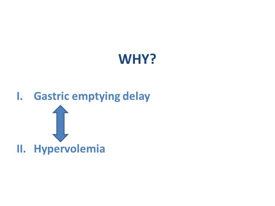 WHY I.Gastric emptying delay II.Hypervolemia