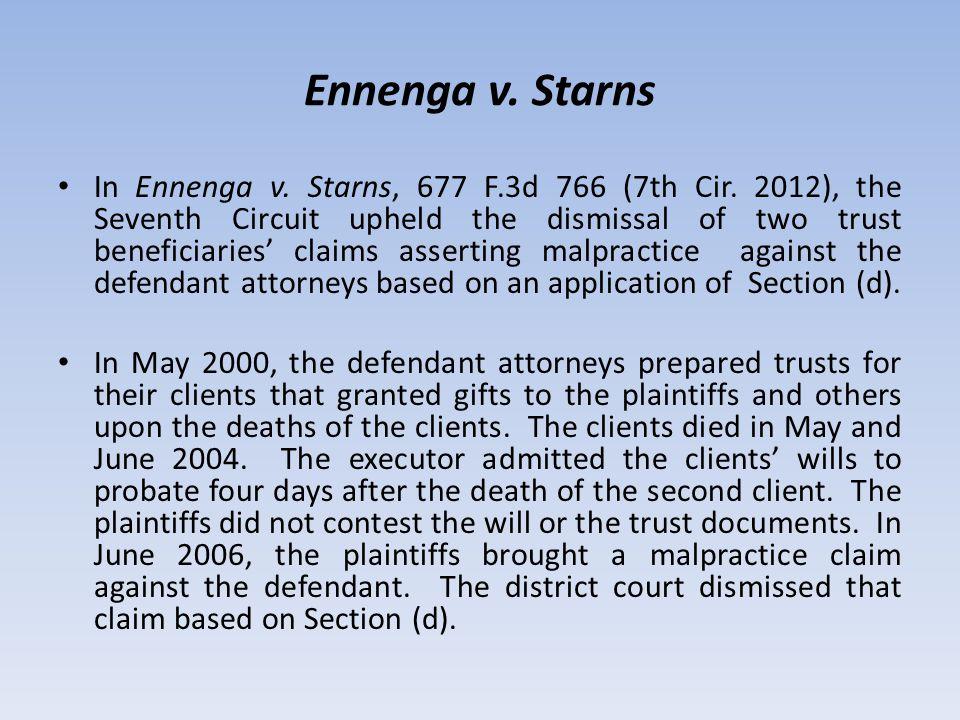Ennenga v. Starns In Ennenga v. Starns, 677 F.3d 766 (7th Cir.