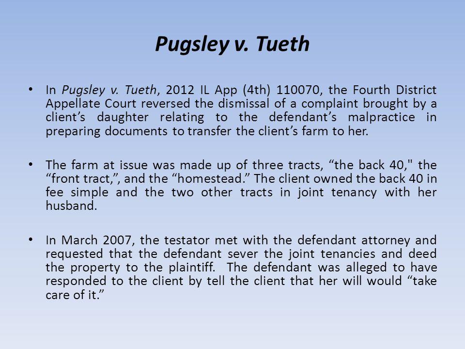 Pugsley v. Tueth In Pugsley v.