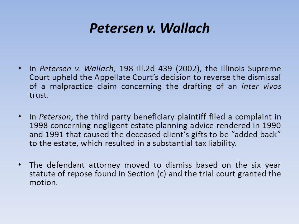 Petersen v. Wallach In Petersen v.