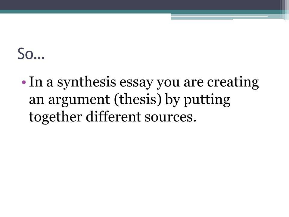 How do we synthesize.1.
