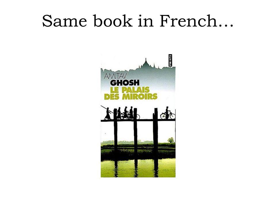 Bookstore data (dataset F ) ABCD 1 IDTitreTraducteurOriginal 2 ISBN 2020286682Le Palais des Miroirs$A12$ISBN 0-00-6511409-X 3 4 5 6 IDAuteur 7 ISBN 0-00-6511409-X$A11$ 8 9 10 Nom 11 Ghosh, Amitav 12 Besse, Christianne