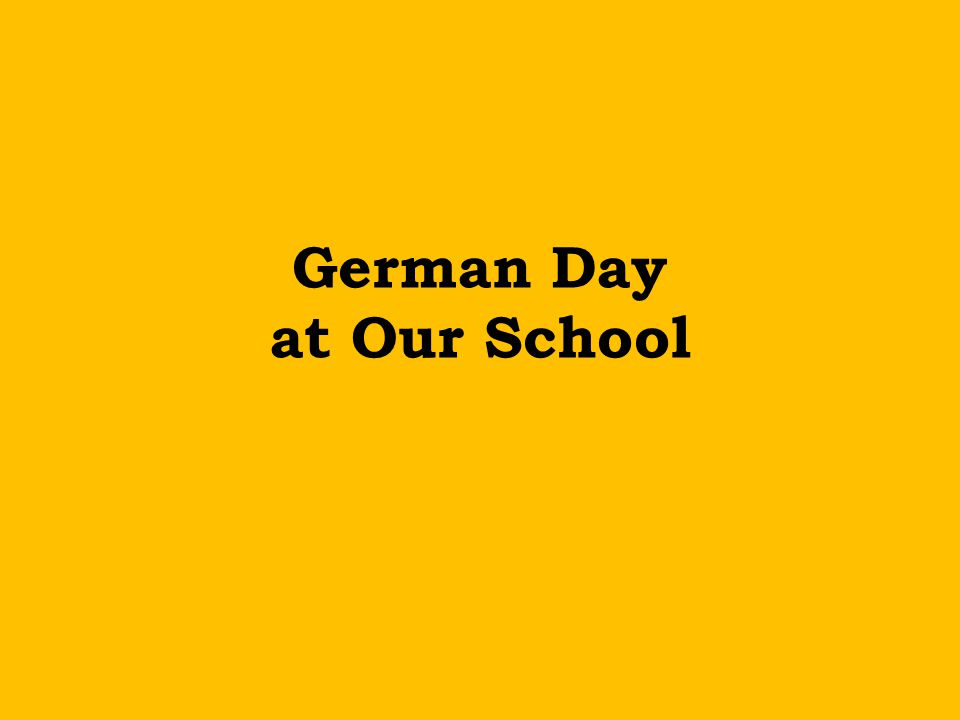 German Day at Our School