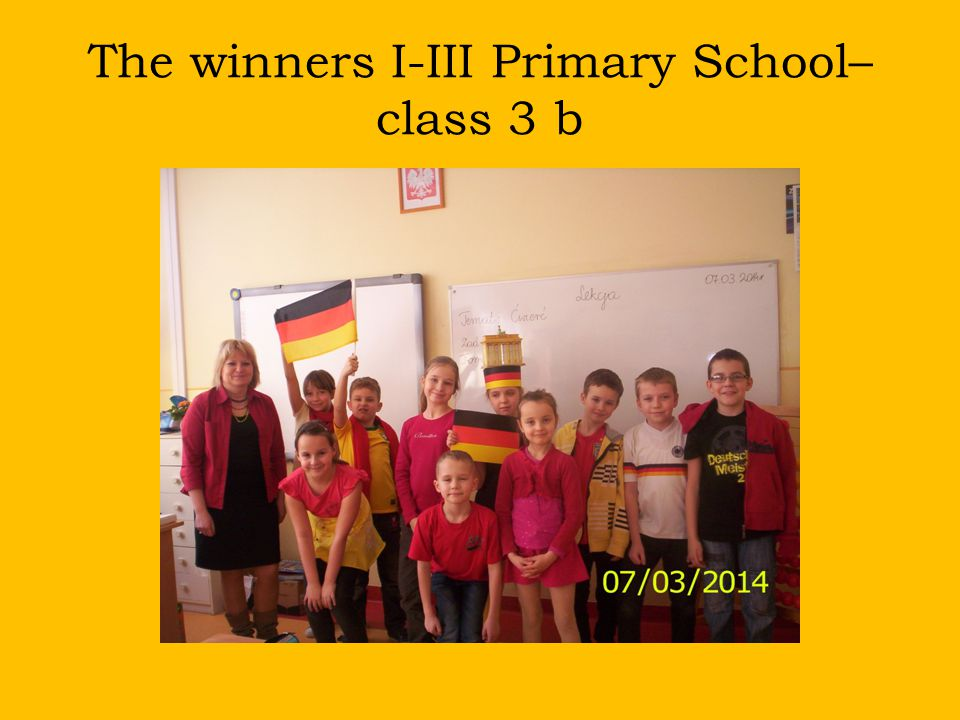 The winners I-III Primary School– class 3 b