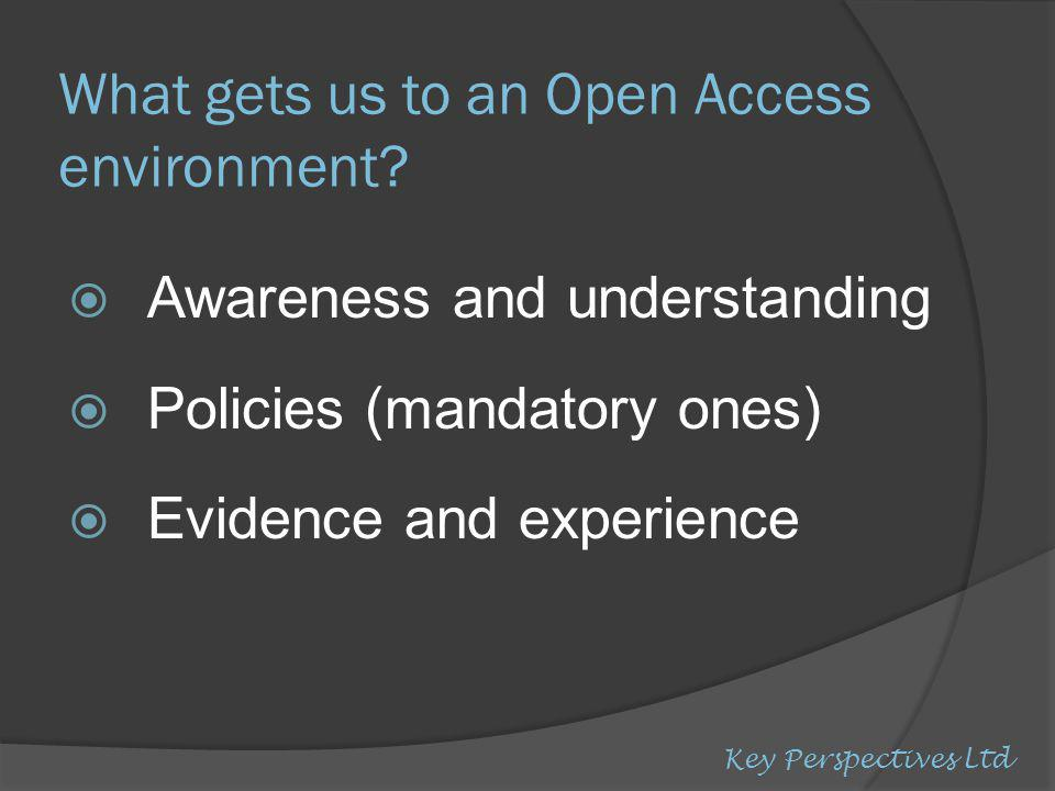 What gets us to an Open Access environment.