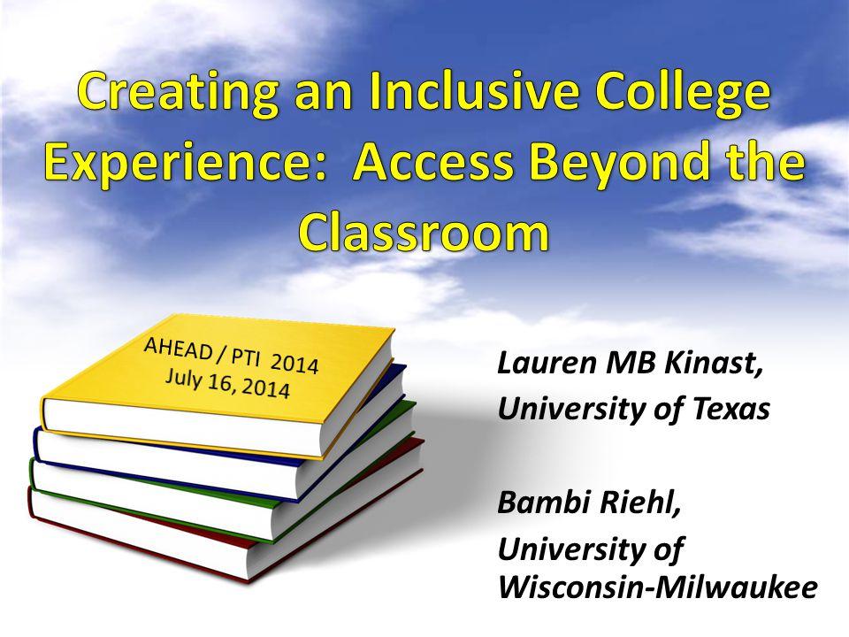 Lauren MB Kinast, University of Texas Bambi Riehl, University of Wisconsin-Milwaukee