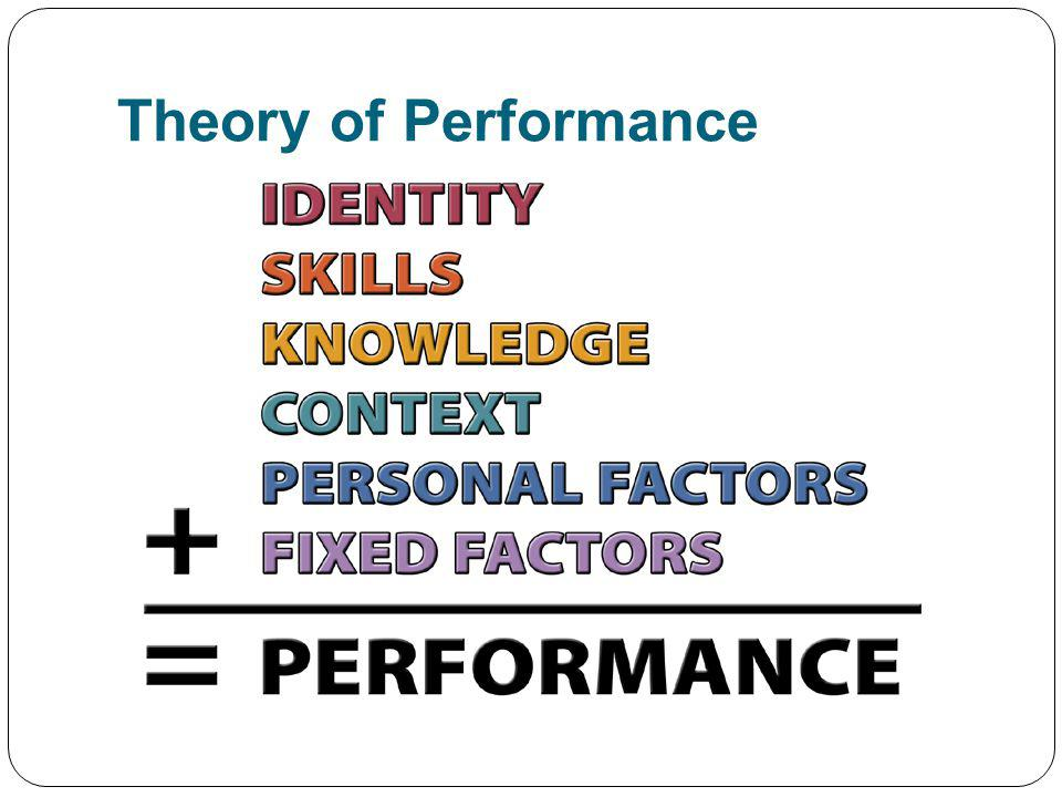Theory of Performance