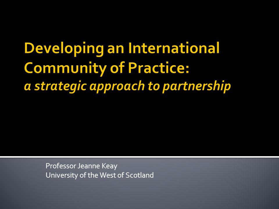Professor Jeanne Keay University of the West of Scotland
