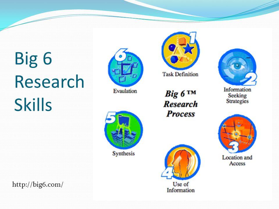 Big 6 Research Skills http://big6.com/