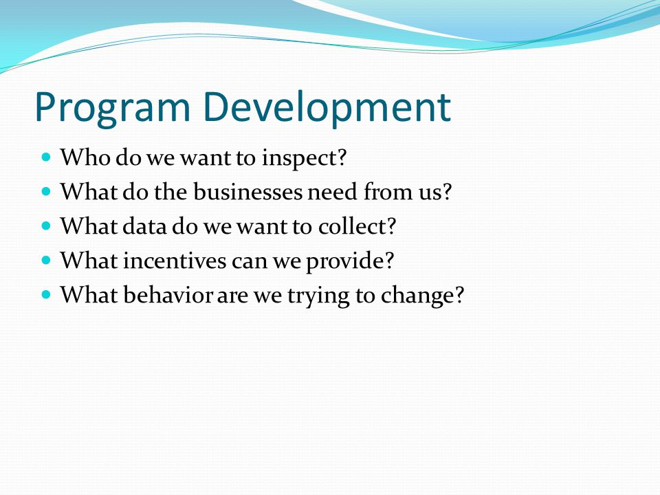 Challenges Ecology dB not sufficient for locals Specific data difficult to pull out Inconsistent data entry Fast-track Program Development Not all recipients had a SQG program Get money, develop program No policies, no procedures Staff turnover 4 LSC Specialists in 6 years