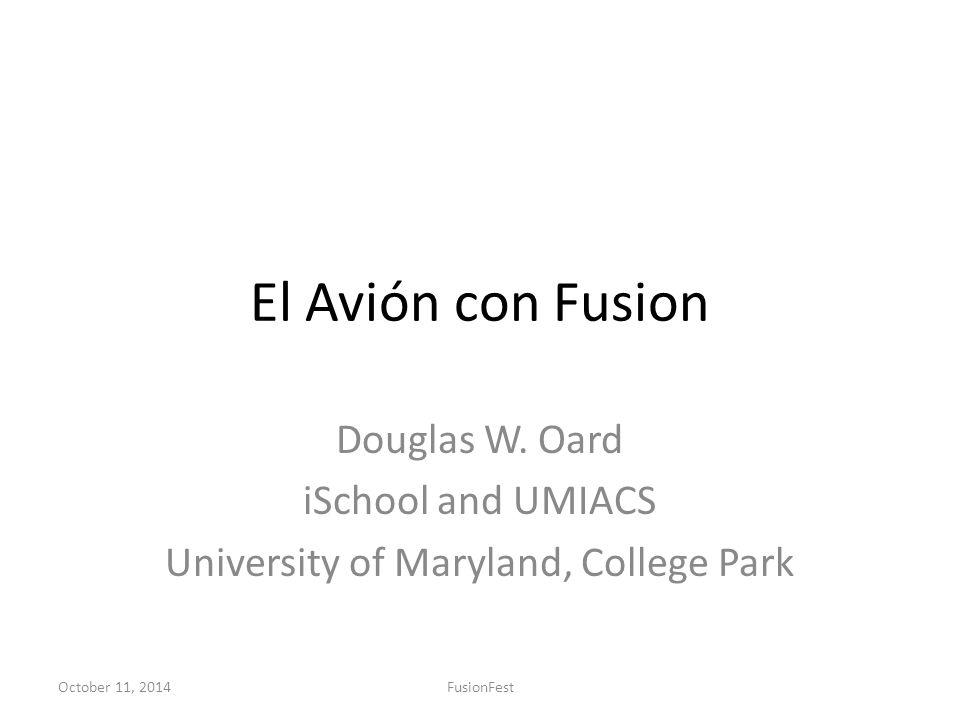 El Avión con Fusion Douglas W.