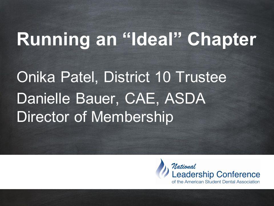 #ASDAnet @ASDAnet Chapter Retreat Build strong team and set goals Plan budget Personal development Travel guidelines