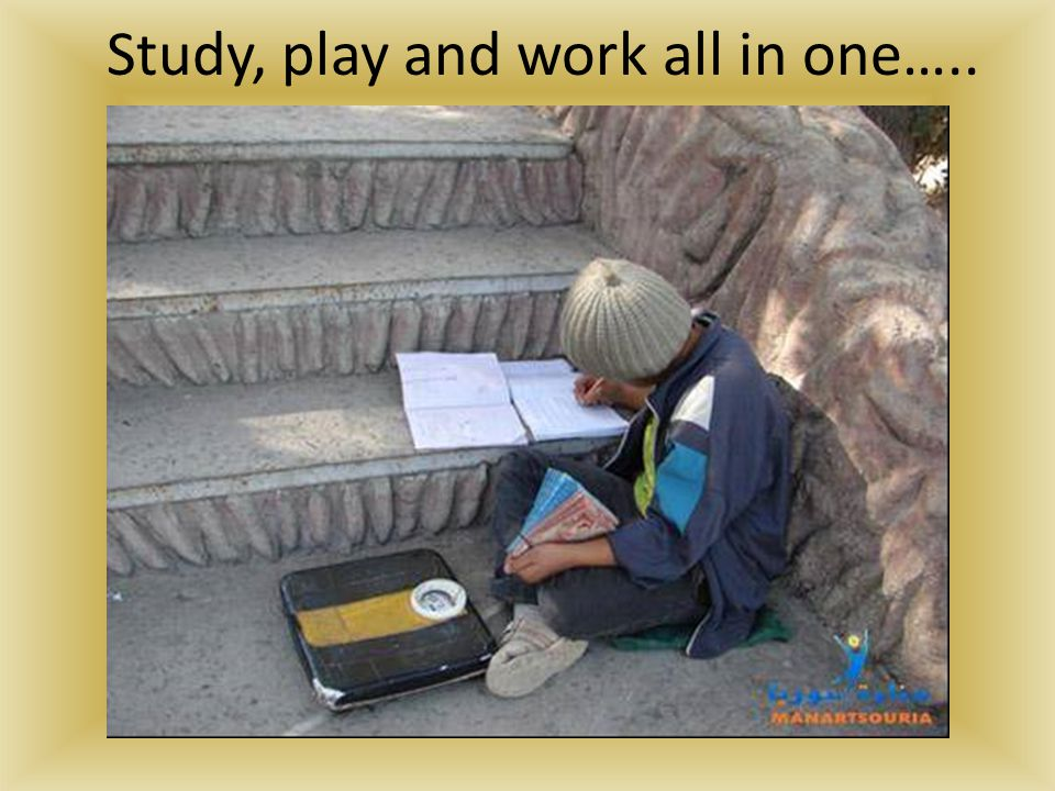 Study, play and work all in one…..