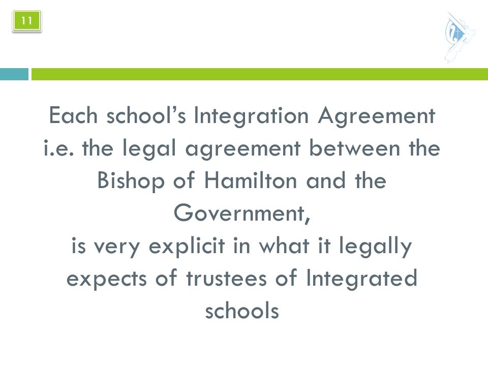 Each school's Integration Agreement i.e.