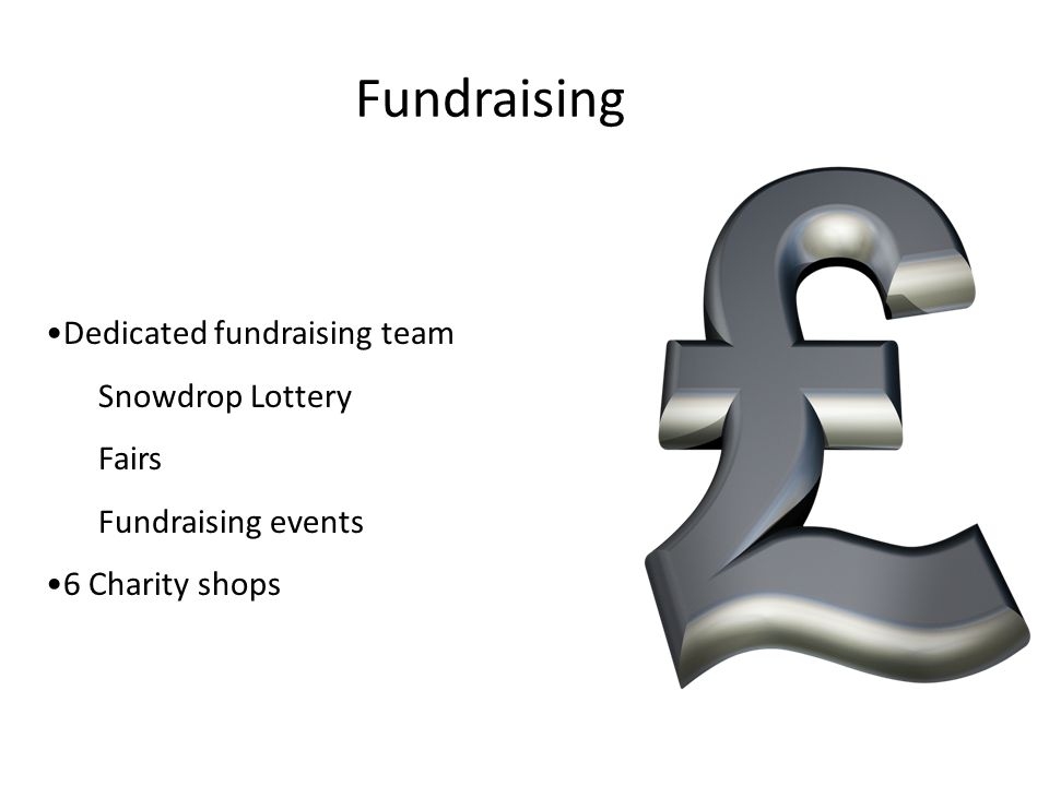 Fundraising Dedicated fundraising team Snowdrop Lottery Fairs Fundraising events 6 Charity shops