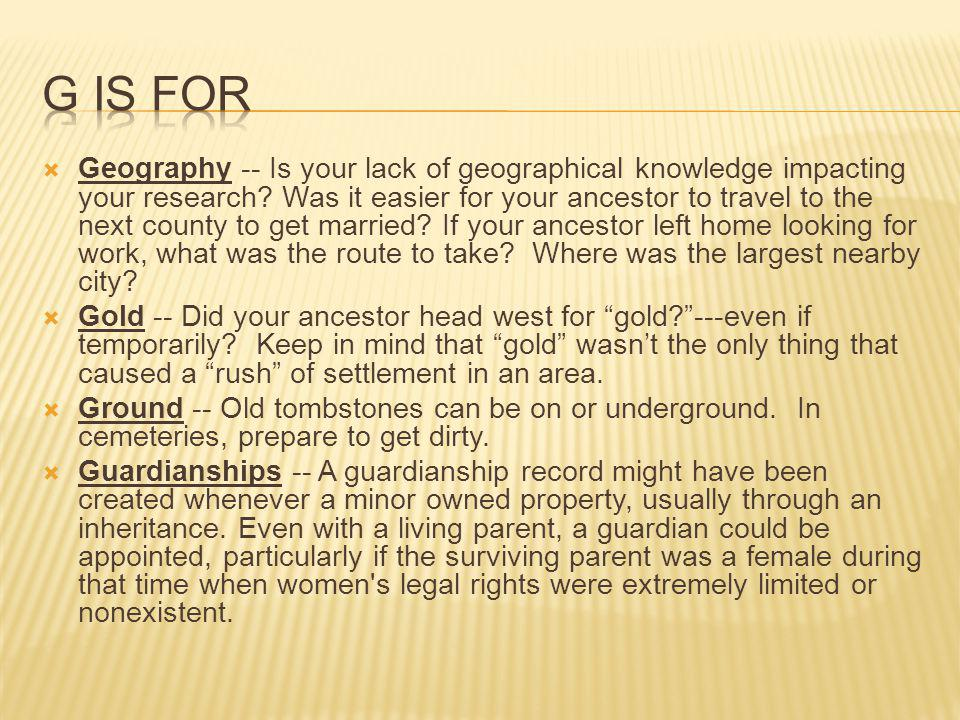  Geography -- Is your lack of geographical knowledge impacting your research.