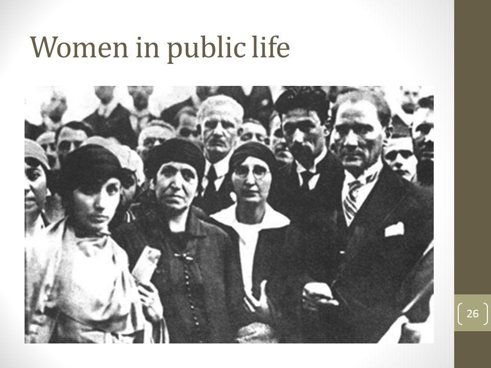 Women in public life 26