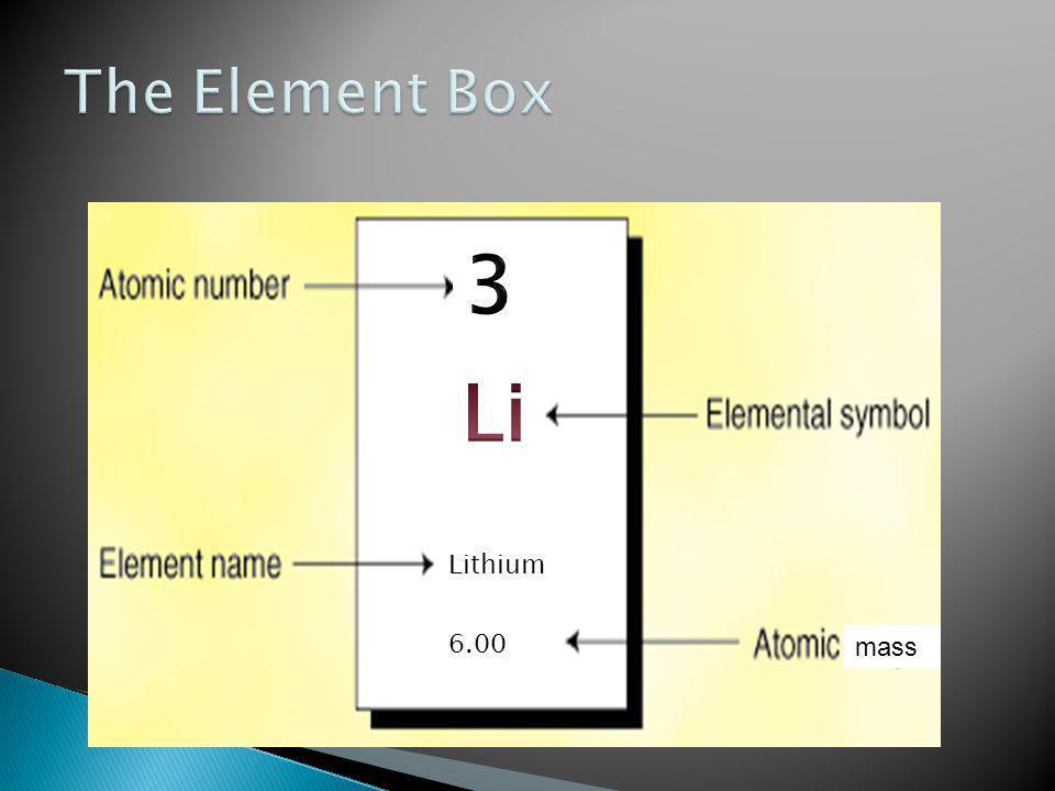 Lithium 6.00 mass