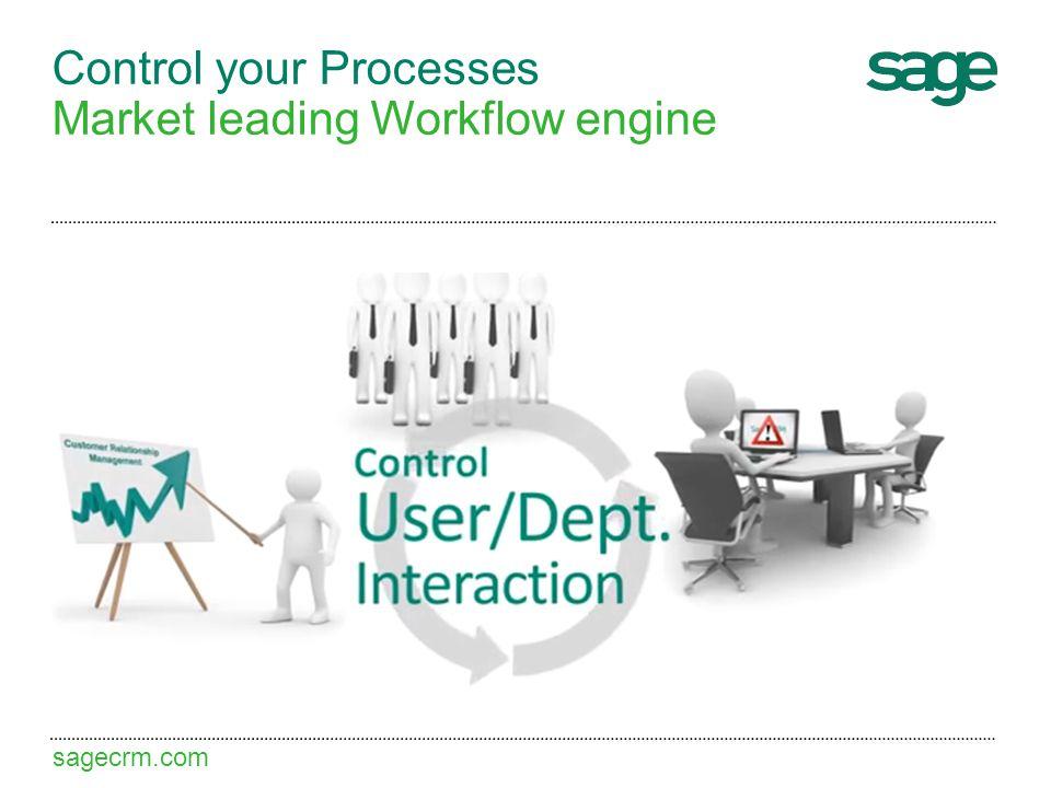 sagecrm.com Control your Processes Market leading Workflow engine