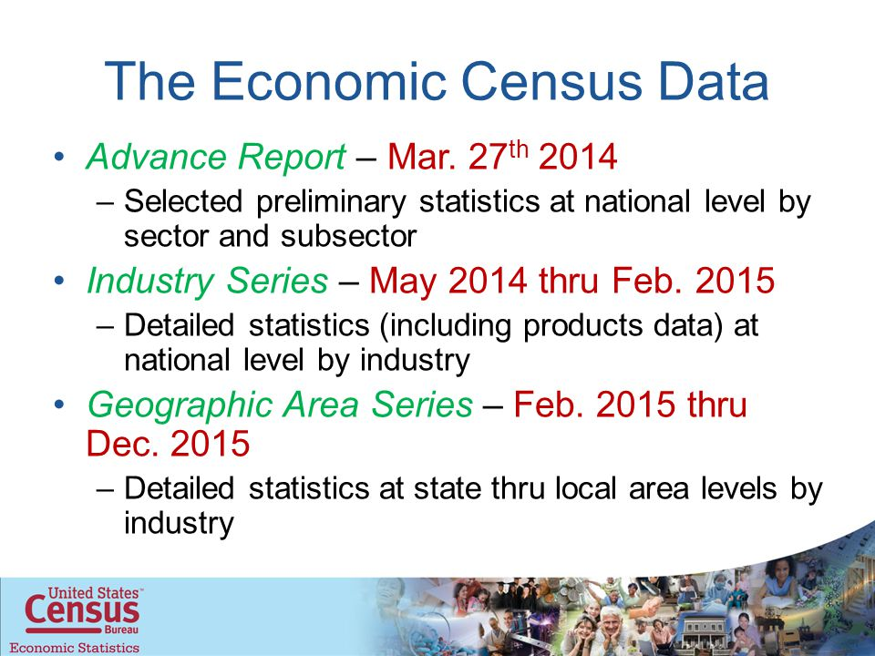 The Economic Census Data Advance Report – Mar.