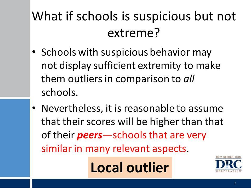 Did all flagged schools exhibited suspicious behavior.
