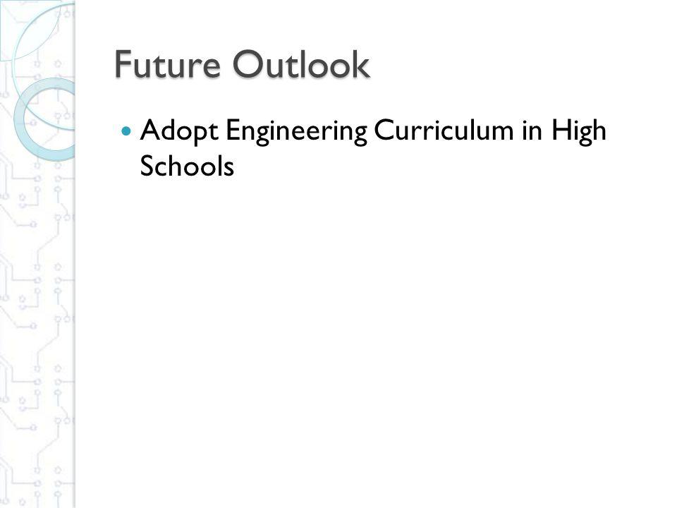 Future Outlook Adopt Engineering Curriculum in High Schools