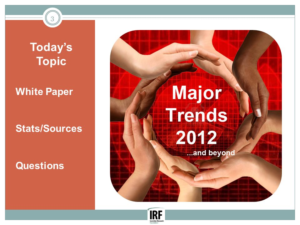 Today's Topic 3 White Paper Stats/Sources Questions