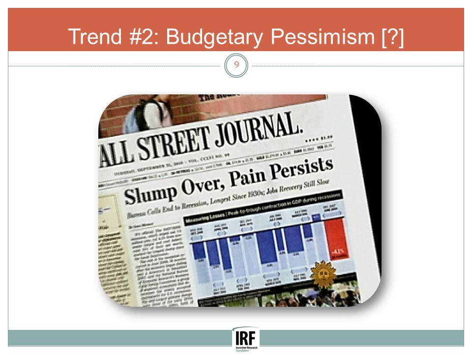 Trend #2: Budgetary Pessimism [ ] 9