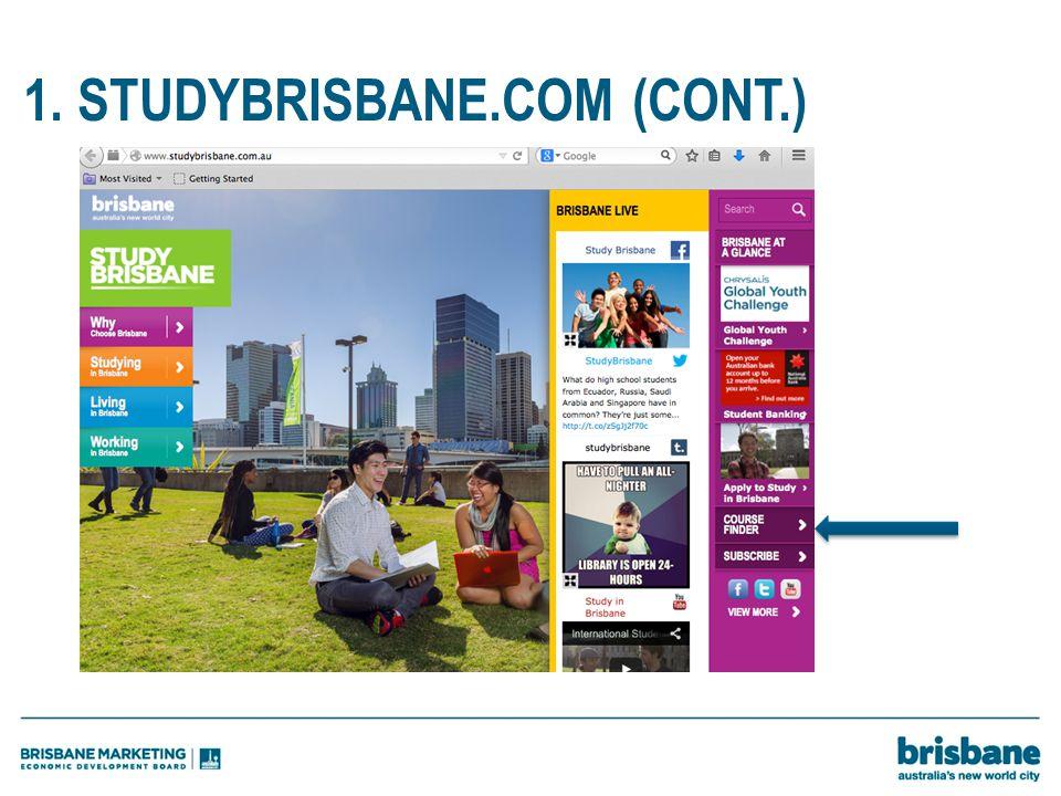 1. STUDYBRISBANE.COM (CONT.)