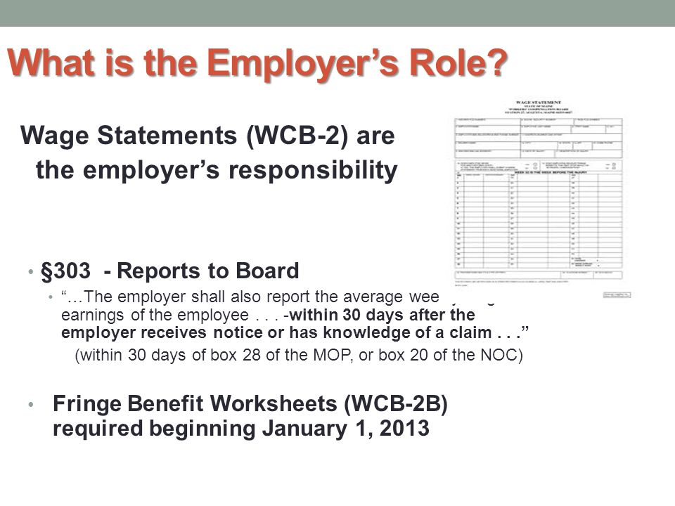 What is the Employer's Role.
