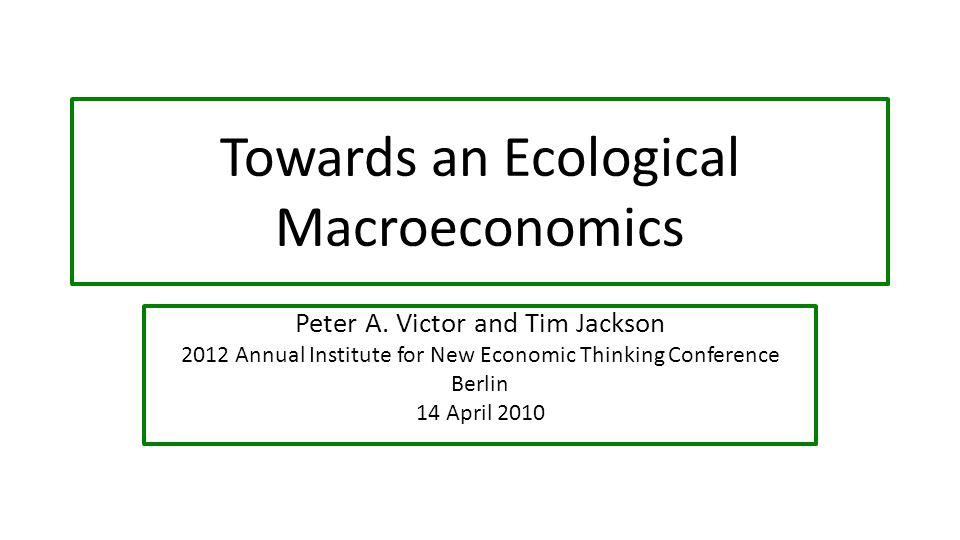 GEMMA (Green Economic Macro Model and Accounts) Is economic growth required in advanced economies to maintain high levels of employment, reduce poverty, and meet ambitious ecological and resource targets.