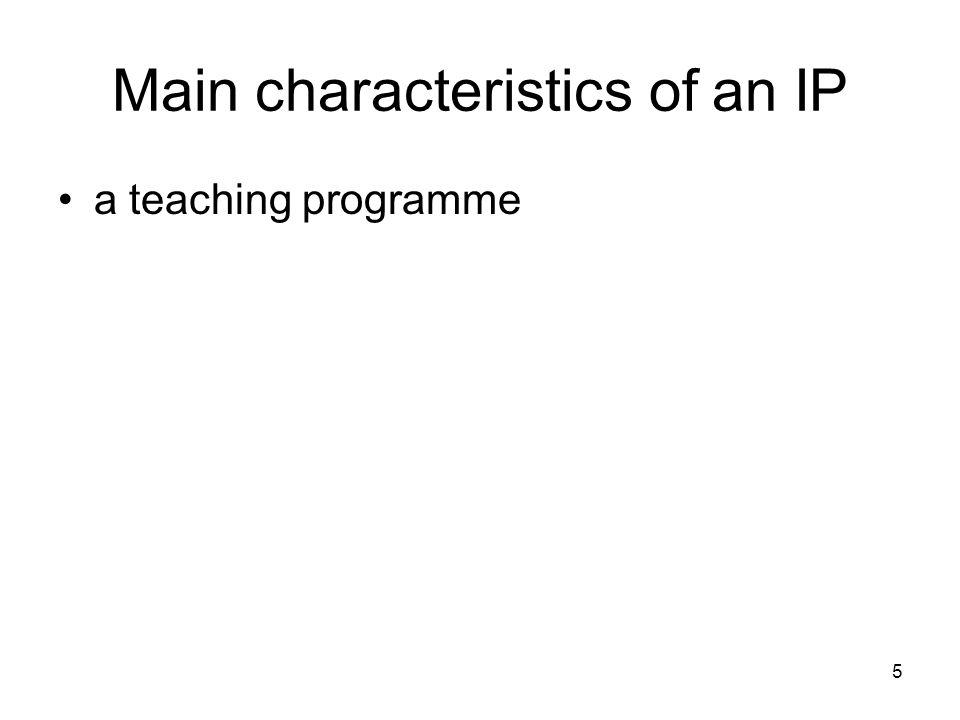 5 a teaching programme
