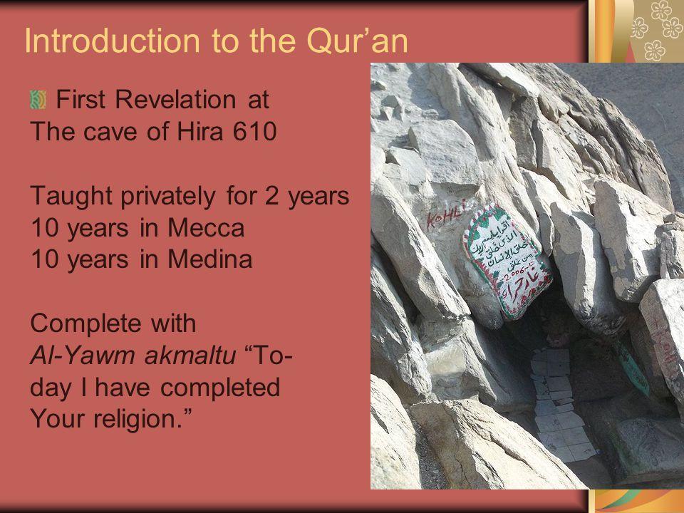 Reading the Qur'an Begin with: A'udhu b-'llah min al- Shaytan ar-rajim I take refuge in God from accursed Satan End with: Sadaqa Allah al-Azim.