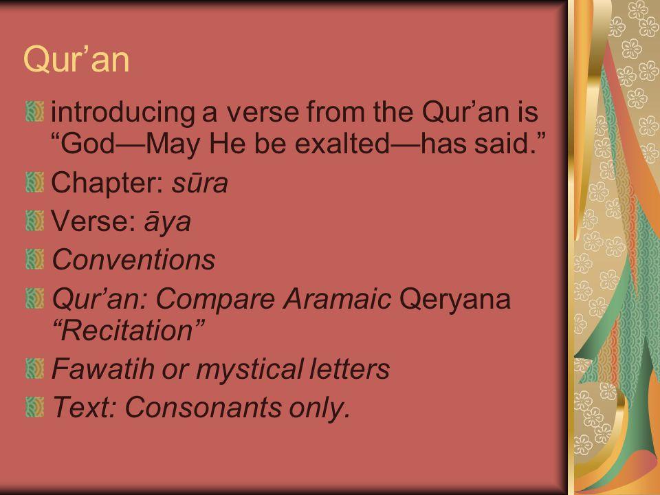 Interpretation: Legal and ethical: through sunna and hadith.