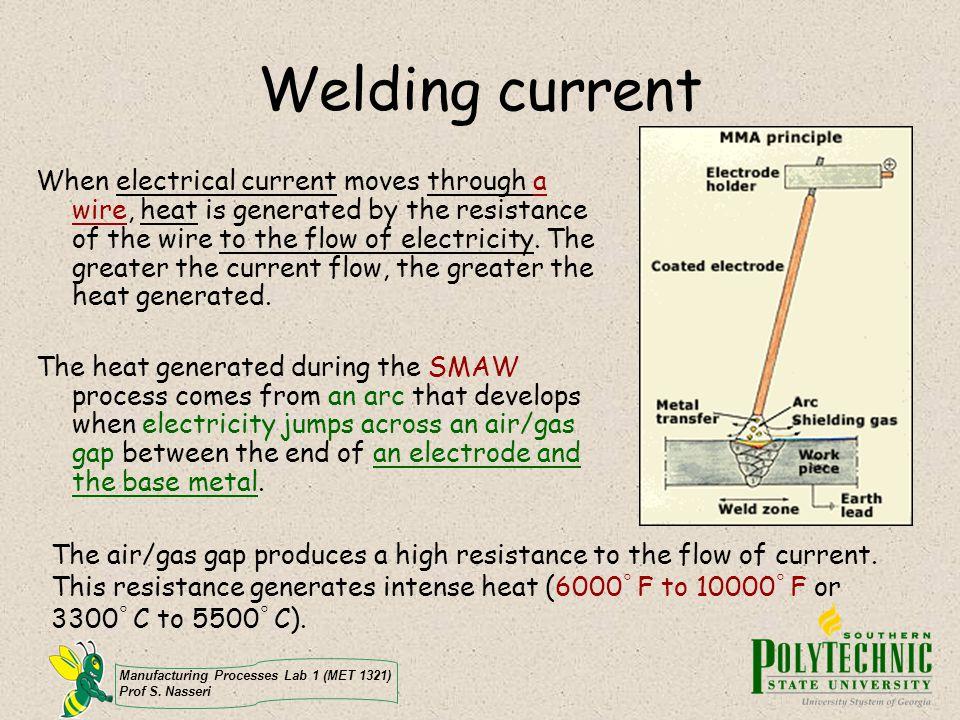 Manufacturing Processes Lab 1 (MET 1321) Prof S.Nasseri Avoid electrical shock.