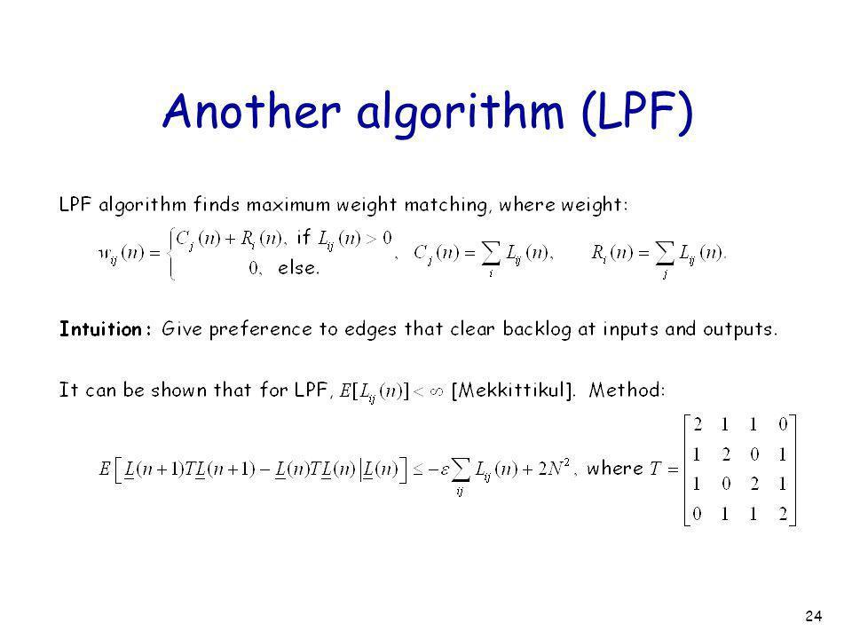 24 Another algorithm (LPF)