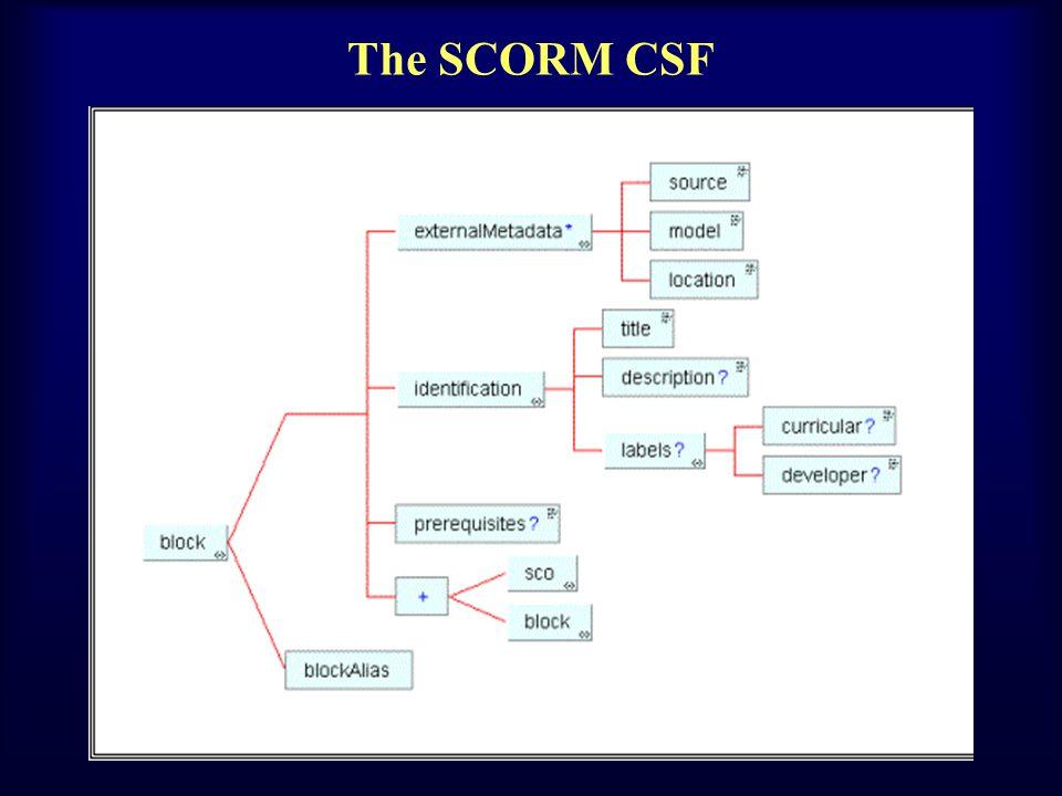 The SCORM CSF