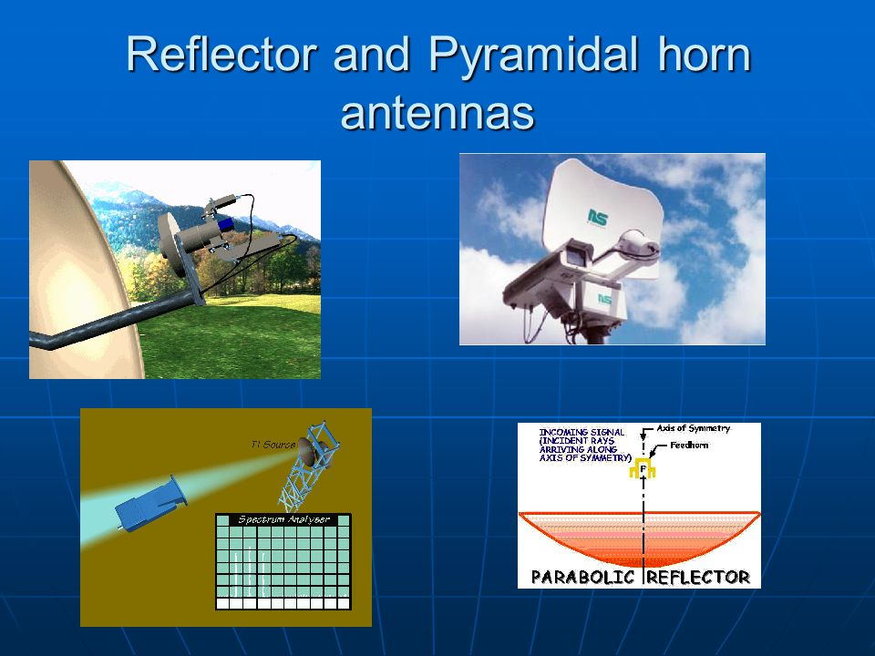 Outline Antenna parameters Solid angle,   and Radiation intensity, U Solid angle,   and Radiation intensity, U Radiation pattern, P n, sidelobes, HPBW Radiation pattern, P n, sidelobes, HPBW Far field zone, r ff Far field zone, r ff Directivity, D or Gain, G Directivity, D or Gain, G Antenna radiation impedance, R rad Antenna radiation impedance, R rad Effective Area, A e Effective Area, A e All of these parameters are expressed in terms of a transmission antenna, but are identically applicable to a receiving antenna.