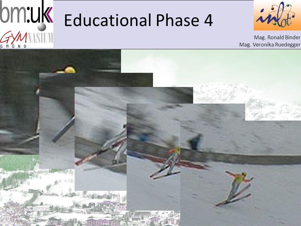 Mag. Ronald Binder Mag. Veronika Ruedegger Educational Phase 4