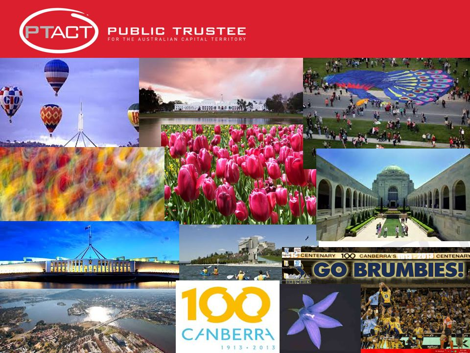 About Canberra Canberra is Australia's Capital City and capital of the Australian Capital Territory (ACT) Population 385,000 Seat of Australian parliament Australia's largest inland city, 8 th largest overall Entirely planned, not unlike Washington DC Described as a city in a park Designed by an American Walter Burley Griffin in 1913