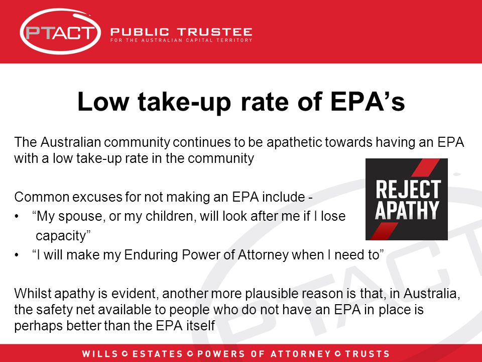 If you don't have an EPA...