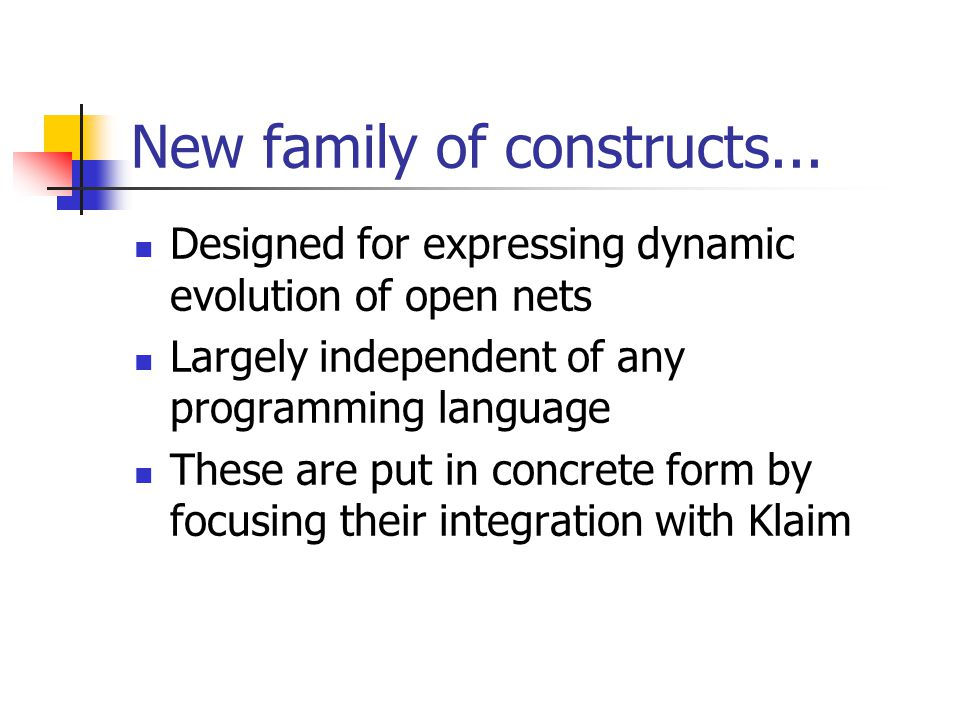 New family of constructs...