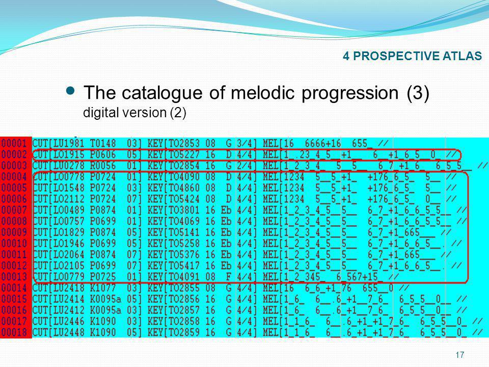 17 4 PROSPECTIVE ATLAS The catalogue of melodic progression (3) digital version (2)