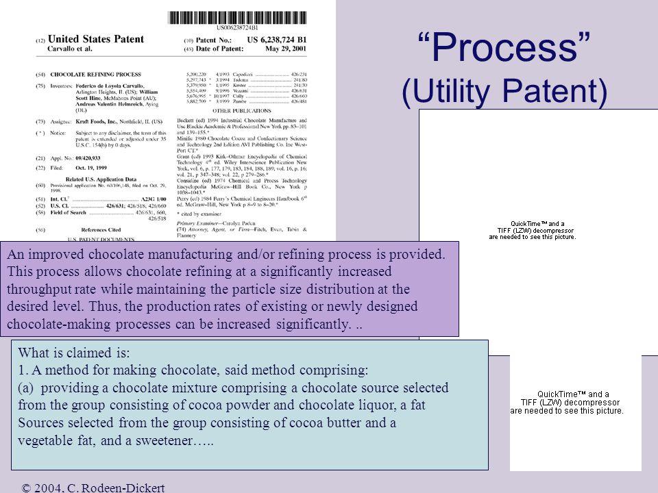 © 2004, C. Rodeen-Dickert Device (Utility Patent) I claim: 1.