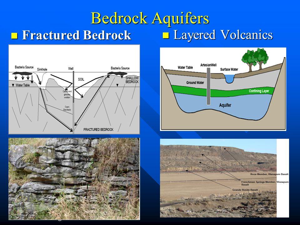 Bedrock Aquifers Fractured Bedrock Fractured Bedrock Layered Volcanics Layered Volcanics